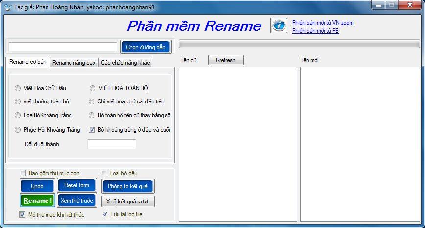 Phần mềm đổi tên File Nhạc hàng loạt